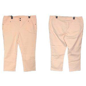 TALBOTS Pale Peach Signature Crop Pants 20W Plus